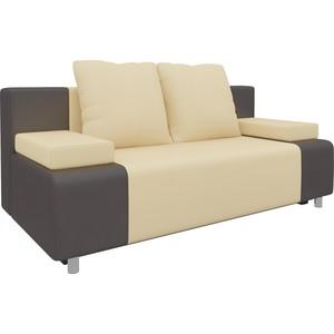 Диван-еврокнижка Мебелико Чарли эко-кожа бежево-коричневый диван мебелико малютка эко кожа бежево коричневый