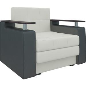 Кресло-кровать Мебелико Комфорт эко-кожа бело-черный