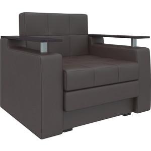 Кресло-кровать АртМебель Комфорт эко-кожа коричневый кресло кровать артмебель комфорт эко кожа черный