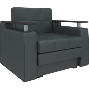 Кресло-кровать АртМебель Комфорт эко-кожа черный кровать артмебель ларго эко кожа черный