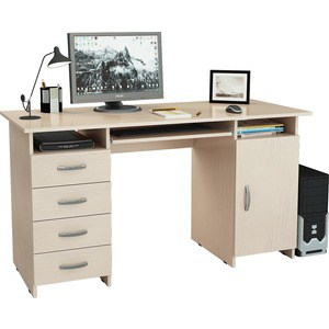 Стол письменный Мастер Милан-7П (дуб молочный) МСТ-СДМ-7П-ДМ-16 цена
