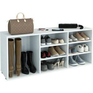 Полка для обуви Мастер Лана-3 ПОЛ-3 (1С+2П) (белый) МСТ-ПОЛ-1С-2П-БТ-16