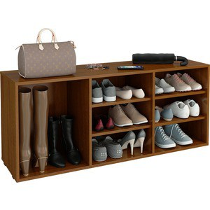 цена на Полка для обуви Мастер Лана-3 ПОЛ-3 (1С+2П) (орех) МСТ-ПОЛ-1С-2П-ОР-16