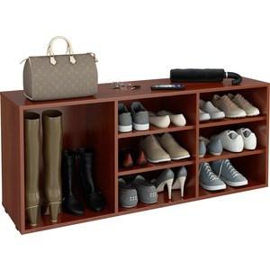 цена на Полка для обуви Мастер Лана-3 ПОЛ-3 (1С+2П) (орех итальянский) МСТ-ПОЛ-1С-2П-ОИ-16