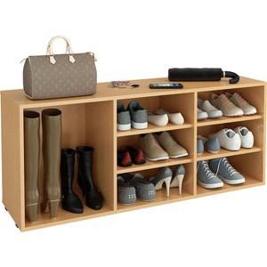 цена на Полка для обуви Мастер Лана-3 ПОЛ-3 (1С+2П) (бук) МСТ-ПОЛ-1С-2П-БК-16