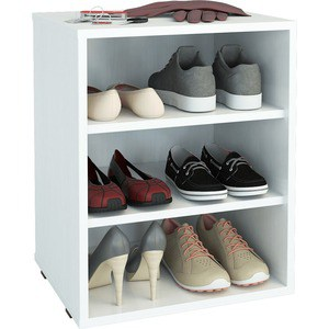 цена на Полка для обуви Мастер Лана-1 (ПОЛ-1П) (белый) МСТ-ПОЛ-1П-БТ-16