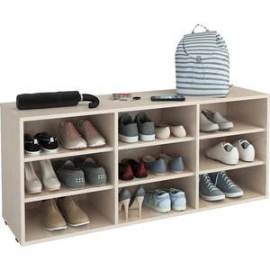 Полка для обуви Мастер Лана-3 (ПОЛ-3П) (дуб молочный) МСТ-ПОЛ-3П-ДМ-16
