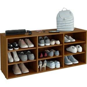 Полка для обуви Мастер Лана-3 (ПОЛ-3П) (орех) МСТ-ПОЛ-3П-ОР-16 полка для обуви мастер лана 3 пол 3 1с 2п орех мст пол 1с 2п ор 16