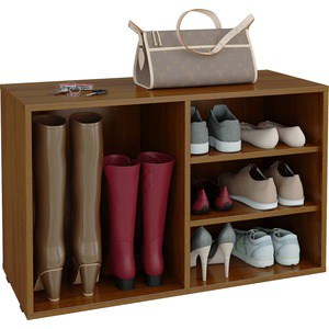 Полка для обуви Мастер Лана-2 ПОЛ-2 (1С+1П) (орех) МСТ-ПОЛ-1С-1П-ОР-16