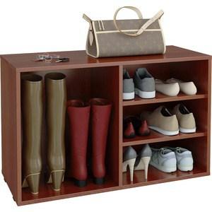 цена на Полка для обуви Мастер Лана-2 ПОЛ-2 (1С+1П) (орех итальянский) МСТ-ПОЛ-1С-1П-ОИ-16