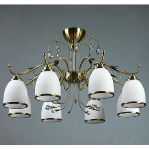 Потолочная люстра BRIZZI MA 02640C/008 Bronze ambiente by brizzi люстра ambiente by brizzi 2118 10 pb tear drop crystal