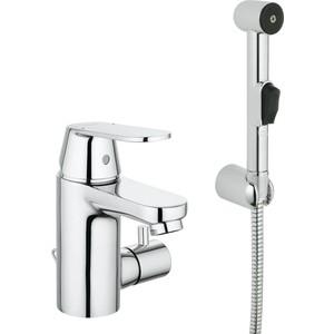 цены Смеситель для раковины Grohe Eurosmart Cosmopolitan с гигиеническим душем, с цепочкой (23433000)