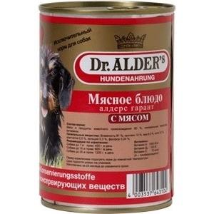 Консервы Dr.ALDERs Мясное блюдо алдерс гарант с мясом (говядина) для собак 410г (7738)