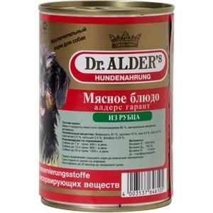 Консервы Dr.ALDERs Мясное блюдо алдерс гарант из рубца для собак 410г (7743)