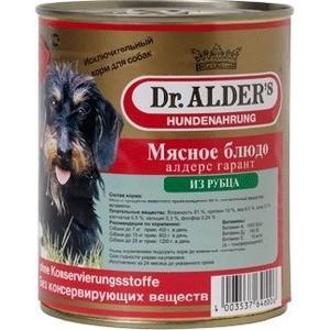 Консервы Dr.ALDERs Мясное блюдо алдерс гарант из рубца для собак 750г (7740 )