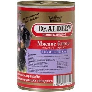 Консервы Dr.ALDERs Мясное блюдо алдерс гарант из ягнёнка для собак 410г (7744)