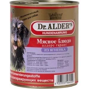 Консервы Dr.ALDERs Мясное блюдо алдерс гарант из ягнёнка для собак 750г (7741)