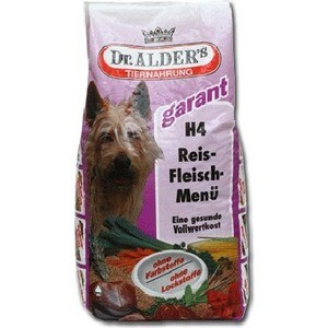 Сухой корм Dr.ALDERs Garant H4 Rice-Meat Menu хлопья с говядиной и рисом для активных собак 15кг (108)