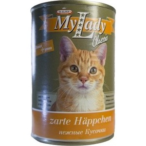 Консервы Dr.ALDERs MyLady Classic Zarte Happchen нежные кусочки с птицей и уткой для кошек 415г (1982)