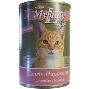 Консервы Dr.ALDERs MyLady Classic Zarte Happchen нежные кусочки с кроликом для кошек 415г (1975)