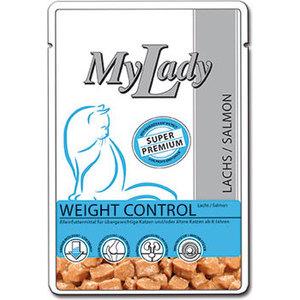 Паучи Dr.ALDER's MyLady Super Premium Weight Control Salmon с лососем для пожилых кошек 85г (400777) паучи dr alder s mylady super premium kitten poultry с птицей для котят 85г 400778