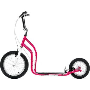 Самокат 2-х колесный Yedoo City New 2016 Малиновый/белый (111408) самокат 2 х колесный yedoo yedoo самокат 2 х колесный city new розовый белый