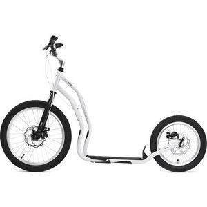 цена на Самокат 2-х колесный Yedoo Mezeq Disc New Белый/черный (111208)