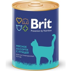 Консервы Brit Premium Cat Sterilized Beef & Chicken мясное ассорти с птицей для стерилизованных кошек 340г (9440)