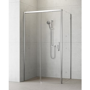 Душевая дверь Radaway Idea KDJ/L 130 прозрачная, хром, левая (387043-01-01L) боковая стенка radaway idea s1 l 120x2005 387054 01 01l стекло прозрачное