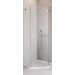 Душевая дверь Radaway Essenza New PTJ/R 90 прозрачная, хром, правая (385010-01-01R) душевая дверь sturm lybre lrp3ir08792tr 90 r