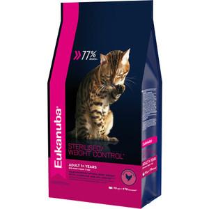 Сухой корм Eukanuba Adult Cat Sterilised / Weight Control Rich in Poultry с домашней птицей для стерилизованных и избыточным весом кошек 10кг