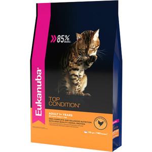 Сухой корм Eukanuba Adult Cat Top Condition Rich in Poultry с домашней птицей для взрослых кошек 10кг
