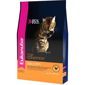 Сухой корм Eukanuba Adult Cat Top Condition Rich in Poultry с домашней птицей для взрослых кошек 2кг