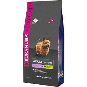 Сухой корм Eukanuba Adult Dog Small Breed Rich in Chicken с курицей для взрослых собак мелких пород 15кг
