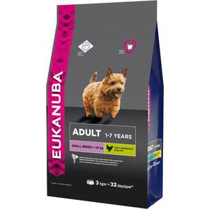 Сухой корм Eukanuba Adult Dog Small Breed Rich in Chicken с курицей для взрослых собак мелких пород 3кг