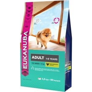 Сухой корм Eukanuba Adult Dog Toy Breed Rich in Chicken с курицей для взрослых собак миниатюрных пород 3,5кг