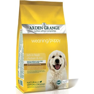 Сухой корм ARDEN GRANGE Weaning/Puppy Hypoallergenic Rich in Fresh Chicken&Rice гипоалергенный с курицей и рисом для щенков 15кг (AG600163)