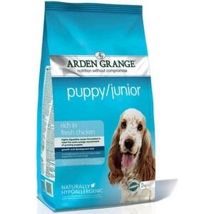 Сухой корм ARDEN GRANGE Puppy/Junior Hypoallergenic Rich in Fresh Chicken гипоалергенный с курицей для щенков и молодых собак 15кг (AG601160)