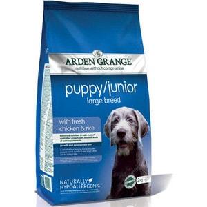 Сухой корм ARDEN GRANGE Puppy/Junior Large Breed with Fresh Chicken&Rice с курицей и рисом для щенков молодых собак крупных пород 15кг (AG602167)