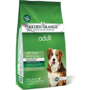 Сухой корм ARDEN GRANGE Adult Dog Hypoallergenic with Fresh Lamb&Rice гипоалергенный с ягненком и рисом для взрослых собак 15кг (AG604161)