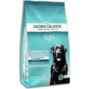Сухой корм ARDEN GRANGE Adult Dog Light Hypoallergenic with Fresh Chicken&Rice облегченный с курицей и рисом для взрослых собак 15кг (AG606165)