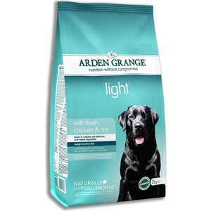 Сухой корм ARDEN GRANGE Adult Dog Light Hypoallergenic with Fresh Chicken&Rice облегченный с курицей и рисом для взрослых собак 12кг (AG606349) сухой корм arden grange adult dog performance hypoallergenic with fresh chicken