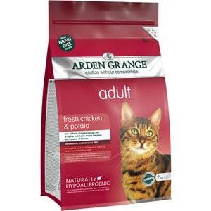 Сухой корм ARDEN GRANGE Adult Cat Grain Free Fresh Chicken&Potato беззерновой с курицей и картофелем для взрослых кошек 2кг (AG612289)