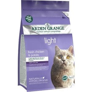 Сухой корм ARDEN GRANGE Adult Cat Light Grain Free Fresh Chicken&Potato беззерновой облегченный с курицей и картофелем для кошек 2кг (AG614283)