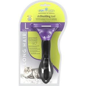 Фурминатор FURminator deShedding Tool Long Hair L Large Cat для больших длинношерстных кошек 7см