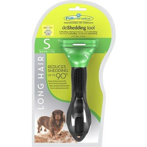 Фурминатор FURminator deShedding Tool Long Hair S Small Dog для длинношерстных собак мелких пород 4см