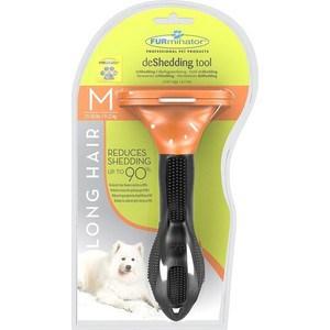 Фурминатор FURminator deShedding Tool Long Hair M Medium Dog для длинношерстных собак средних пород 7см