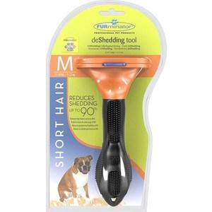 Фурминатор FURminator deShedding Tool Short Hair M Medium Dog для короткошерстных собак средних пород 7см фурминатор furminator deshedding tool long hair l large cat для больших длинношерстных кошек 7см