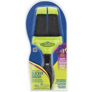 Пуходерка FURminator Slicker Brush Small Soft маленькая мягкая двухсторонняя зубцы 15мм