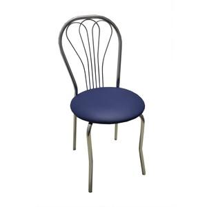 Стул Союз мебель Венус каркас хром экокожа синяя 2 шт недорого